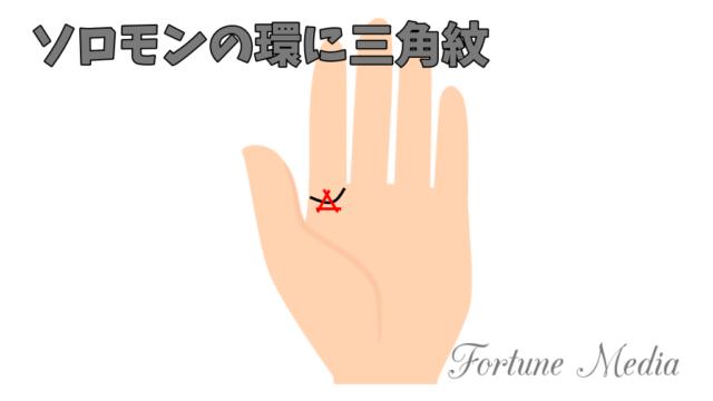 ソロモンの環にトライアングル(三角紋) 手相