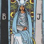 タロットカードの大アルカナ「女教皇」の解説と実際に占った時の意味