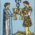 タロットカードの小アルカナ「カップの2」の意味と解説
