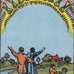 タロットカードの小アルカナ「カップの10」の意味と解説