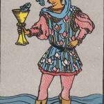 タロットカードの小アルカナ「カップのペイジ」の意味と解説