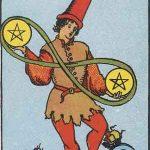 タロットカードの小アルカナ「コインの2」の意味と解説