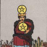 タロットカードの小アルカナ「コインの4」の意味と解説