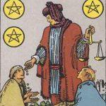 タロットカードの小アルカナ「コインの6」の意味と解説