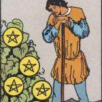 タロットカードの小アルカナ「コインの7」の意味と解説