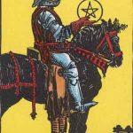 タロットカードの小アルカナ「コインのナイト」の意味と解説