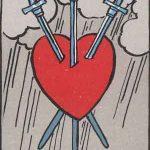 タロットカードの小アルカナ「ソードの3」の意味と解説