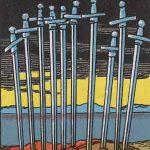 タロットカードの小アルカナ「ソードの10」の意味と解説