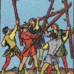 タロットカードの小アルカナ「ワンドの5」の意味と解説