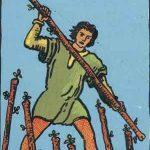 タロットカードの小アルカナ「ワンドの7」の意味と解説