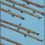 タロットカードの小アルカナ「ワンドの8」の意味と解説