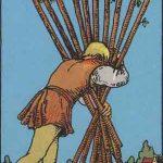 タロットカードの小アルカナ「ワンドの10」の意味と解説