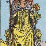 タロットカードの小アルカナ「ワンドのクイーン」の意味と解説