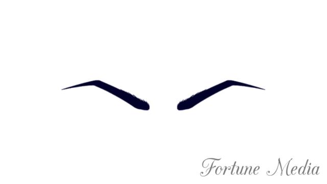 角のある眉毛