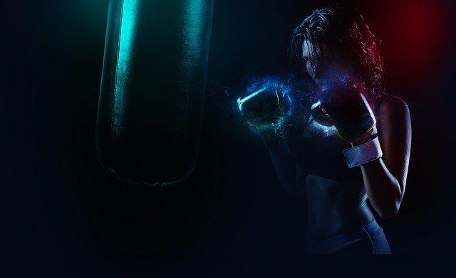 女性ボクサー ファイター 闘志
