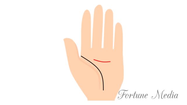 知能線が手のひらの中程から出ている手相