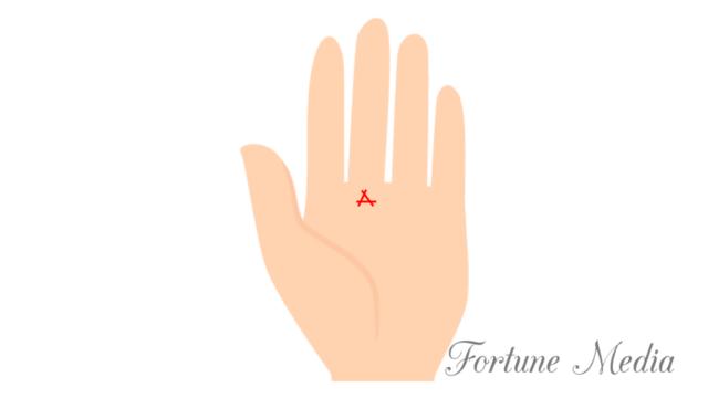 土星丘の三角紋(トライアングル)手相