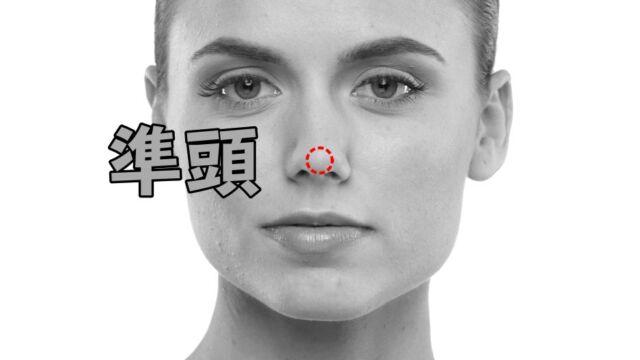 準頭の位置 鼻の先