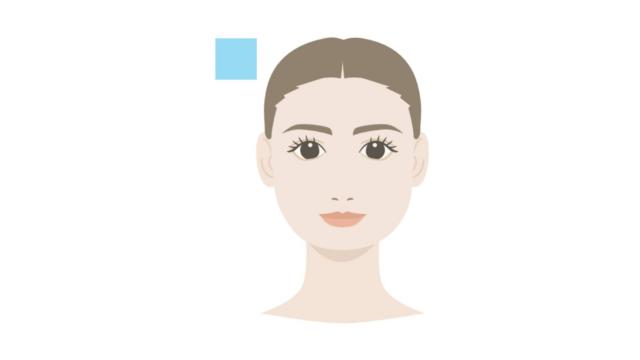 顔の形・頭の形 正方形 四角形 修正