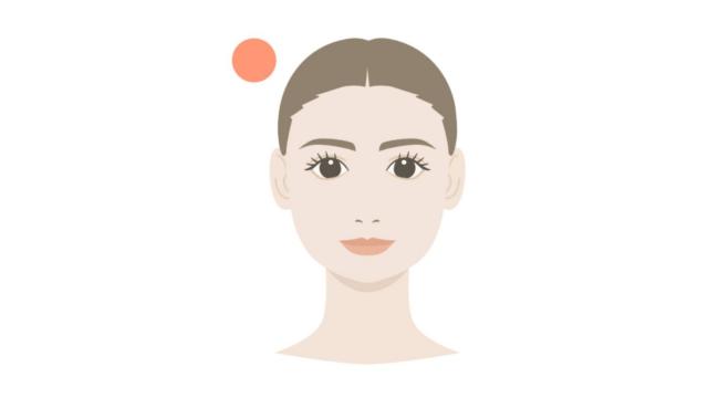 顔の形・頭の形 丸形 修正
