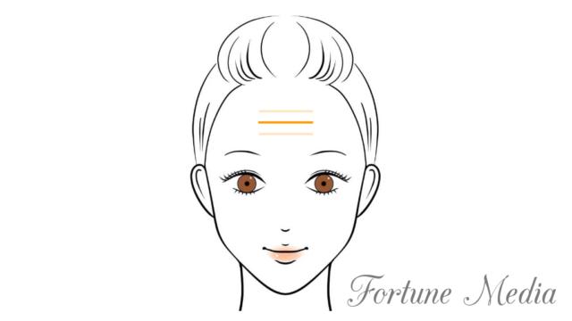額のシワ・人紋がはっきり出ている