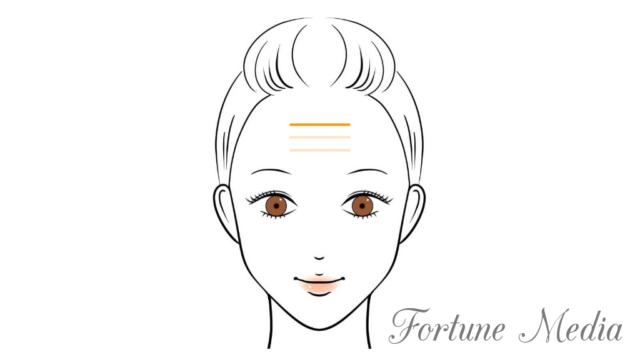 額のシワ・天紋がはっきりと出ている