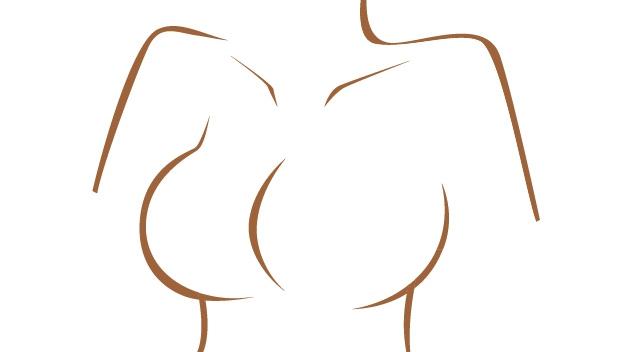 女性の胸イラスト
