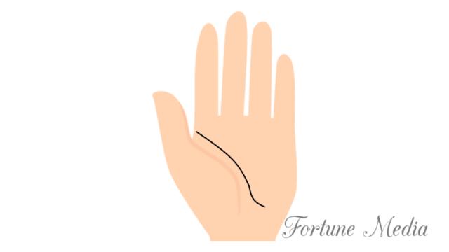 生命線の末端が小指側に流れている人 手相